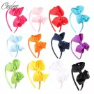 Hot Sales 12 pieces/lot High Quality Hair Band With Grosgrain Ribbon Hair Bow Ha