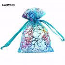 OurWarm 100Pcs/lot Organza Pouch Gifts Bag H Shape Jewelry Bag Candy Box for Wed