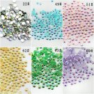 Free shipping candy color AB 10000 pieces/bag  4mm flatback resin rhinestones fo