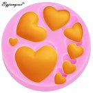 Byjunyeor M174 3D Heart Love Silicone Mold DIY Jewelry Valentine Love Chocolate
