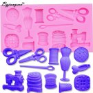Byjunyeor M347 Scissors button Faucet Baby Shower shaped Silicon Mold Silicone M
