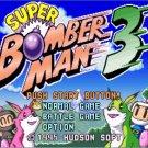 Super Bomberman 3  16 bit Big Gray Game Card For NTSC Game Player
