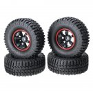 AUSTAR 4PCS 1.9Climbing Car Wheel Tyre For 1/10 Climbing Car Red Color