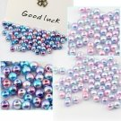 6mm-12mm Gradient Color Pearl Cabochon Round Pearl Imitation ABS Beads Jewelry F