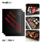 WALFOS Extra thick 0.2mm heat resistant teflon baking mat BBQ Grill Mat Reusable