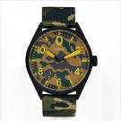 SINOBI luxury brand camouflage nylon air force Army waterproof quartz watch