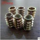 M4 M5 M6 M8 Zinc Alloy Unhead Wood Insert Nut Hex Drive Head Furniture Nuts leng