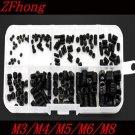 200PCS DIN916 M3 M4 M5 M6 M8 Black Socket Screw Assortment Allen Head Socket Hex