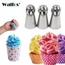 WALFOS 3pc/set Russian Piping Nozzle Sphere Ball Icing Confectionary Pastry Tips