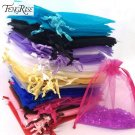 FENGRISE 100ps 10x12cm Jewelry Gift Organza Bags Wedding Favors Candy Pouches Ho