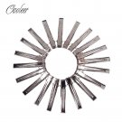 20 pcs High quality Silver Flat Metal Single Prong Alligator Hair Clips Barrette