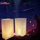 20Pcs Festival Lantern Paper Lantern Candle Bag Outdoor Lighting Candles for Wed