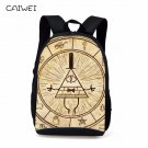 Children Anime Gravity Falls Backpack Boys Girls Cartoon Adventure Time Backpack