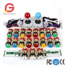 Arcade Game DIY Accessories Kit for PC and Raspberry Pi 5Pin joystick + gilded