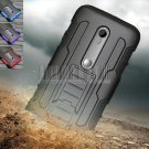 Protective Armor Impact Hard Case Cover+Holster For Motorola Moto G 3rd Gen G