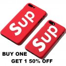 Fashion Sup Brand Case for apple iPhone 6 S 6s 7 8 Plus X  Red Phone Case Cover