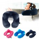U shape Pillows Inflatable Neck Pillow Sleep Textiles Comfortable Form Cushion