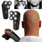 Rotary 4D Shaver Razor Electric Men Cordless Beard Trimmer Electric Head Shaver