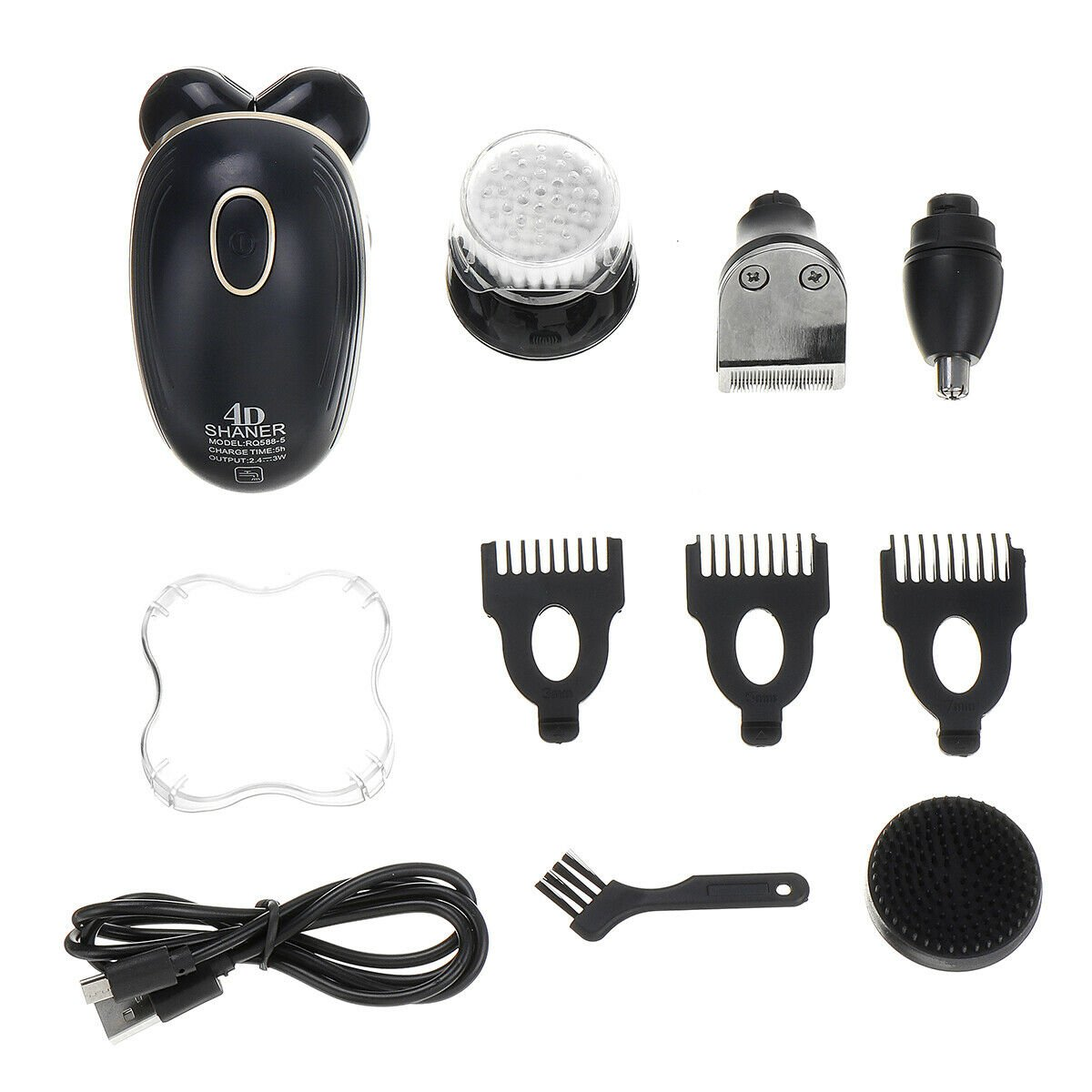 5 In 1 5Head 4D Electric Men Bald Shaver Razor Hair  Clipper