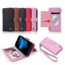 POLA Magnetic Detachable Wallet Card Slots Case With Mirror For iPhone X/8/8