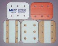 """MM1504- 12"""" Center Foam, Folding Cardboard Splint (Brown/white color)"""