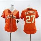 Jose Altuve #27 Houston Astros 2018 Gold Program Flex Base Player Women's Orange Jersey S M L XL XXL