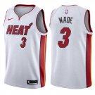 Size S Men's Dwyane Wade #3 Miami Heat Swingman Jersey Association Edition White