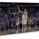 Dirk Nowitzki Basketball Star Art Framed Canvas Print Decor