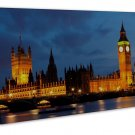 London England Big Ben Art Framed Canvas Print Decor