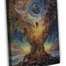 Tree Of Peace Art Art Framed Canvas Print Decor 20x16 inch