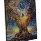 Tree Of Peace Art Wall Decor Framed Canvas Print 20x16 inch