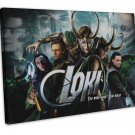 Thor 2 Loki The Dark World Movie   20x16 Framed Canvas Print