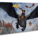 How To Train Your Dragon 1 2 Movie   20x16 Framed Canvas Print