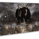 Supernatural Us Tv Show Season Art   20x16 Framed Canvas Print