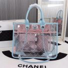 Chanel Strawberry Blueberry Ice Cream Purse Transparent Sheepskin material authentic