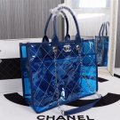 Chanel Sapphire Ice Cream Purse Transparent Sheepskin material authentic retails for 1200