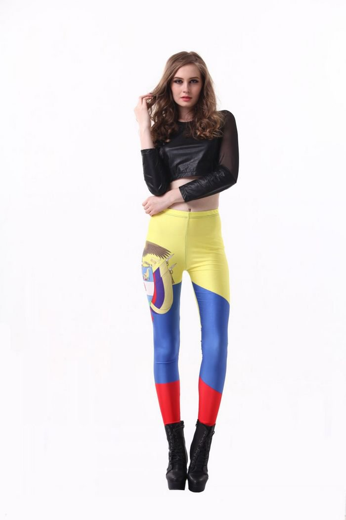 Colombia world cup 3D printing with flag leggings