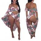 High Waist Flower Swimwear and Overalls