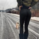 Yoga pants Fitness Sport Leggings black solid