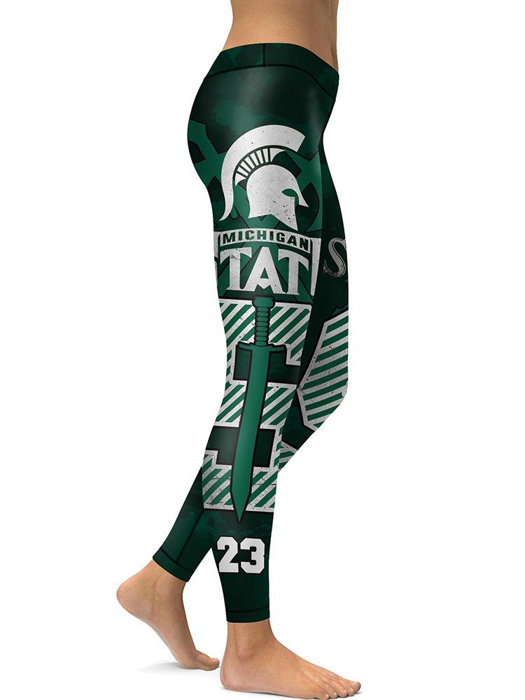 University Michigan State Spartans Women's Leggings NCAA Teams