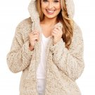 Furry Jacket With Khaki Zipper