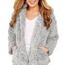 Furry Jacket With Gray Zipper