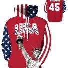 USA Trump Printed Sports Fashion Hoodies Size 2XL