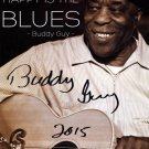 Buddy Guy Signed 13x19 All That Makes Me Happy Is The Blue Poster PSA +