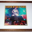 Earth Wind & Fire Autographed Framed Album & Exact Proof PSA AFTAL