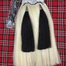Handmade Original Long 100% Horse Hair Sporran with Two Black Tassels