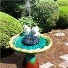 Solar Bird Bath Fountain Pump: 1.4W, Free Standing