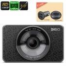 Dash Cam 360 - Full HD 1080P, 60FPS, 3 Inch Display, 1/2.7 Inch CMOS Sensor, Night Vision, G-Sensor