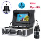 Underwater Fishing Video Recorder - 1/3 in SONY CCD, 700 TVL, remote control, 9 inch color display