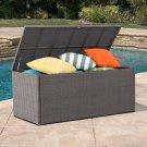 All-Weather Rattan Cushions Storage Deck Box W/ Guaranteed Rust Free Aluminium Frame